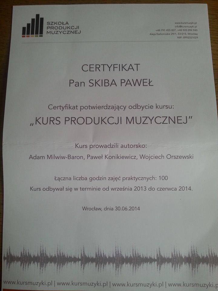 Certyfikat ukończenia kursu, pod okiem fachowców